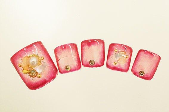 pc_00055 ペディキュアフルアートコース 11,000円(税別)