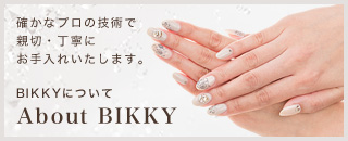 BIKKYについて 確かなプロの技術で親切・丁寧にお手入れいたします。